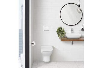 (Square Button, White) - Swiss Madison Well Made Forever White SM-WC002W Wall Mount Dual Flush Actuator Plate with Square Push Buttons