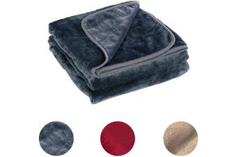 (Gray) - Electric Heated Throw Blanket 130cm x 150cm , Cosy Fleece Heated Blanket with 4 Heating Levels and Overheating Protection System (Grey)
