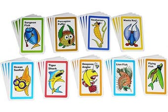 Go Fish Card Game for Kids - Classic Vintage Playing Cards Game Set