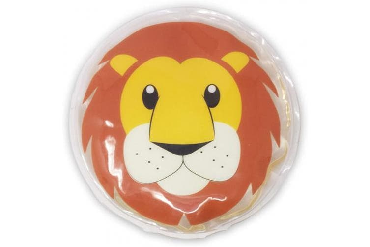 (Leo) - Cold Compress for Kids, Reusable Childrens Ice Pack - Lion, Fever & Pain Relief - Instant First Aid Soother for Bumps, Bruises, Injury, Boo boos - Hot or Cool Gel Pads for Your Toddler, Infant, Baby