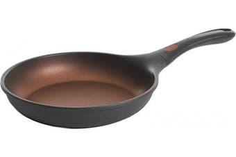 (24cm  Fry Pan) - Kenmore Midway Cast Aluminium Nonstick Frying Pan, 24cm , Black/Copper