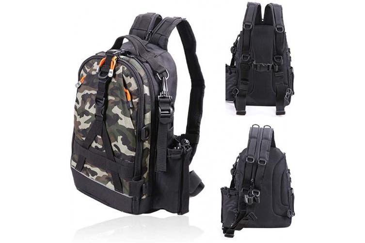Large 17 11 6 3 Black Camo Amitfo Fishing Backpack Fishing Tackle Backpack With Rod Holder Fishing Tackle Box Bag Large Fishing Gear Backpack Kogan Com