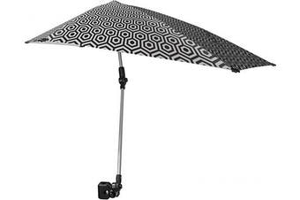 (Regular, Black,White) - Sport-Brella Versa-Brella SPF 50+ Adjustable Umbrella with Universal Clamp