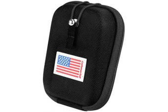 (Black) - USA Flag Golf Range Finder Bag Hard Case for Tectectec Callaway and Other Most Brands