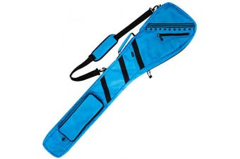 Golf Bag Clubs Case Foldable Zippered Carry Bag Thick and Tough Lightweight Waterproof Sunday Bag Multi Colours (Black) (Light Blue)
