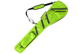 (Neo Green) - Golf Bag Clubs Case Foldable Zippered Carry Bag Thick and Tough Lightweight Waterproof Sunday Bag Multi Colours