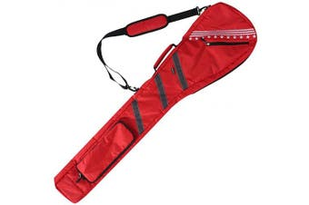 (Red) - Golf Bag Clubs Case Foldable Zippered Carry Bag Thick and Tough Lightweight Waterproof Sunday Bag Multi Colours