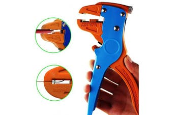 (Blue) - Knoweasy Automatic Wire Stripper and Cutter,Heavy Duty Wire Stripping Tool 2 in 1 for Electronic and Automotive Repair