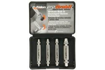 Alden 8440P Grabit Pro Broken Bolt and Damaged Screw Extractor 4 Piece Kit
