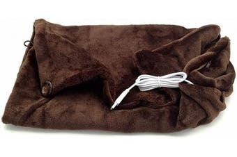 (Coffee) - 7Buy USB Electric Blankets Heated Shawl Cushion Keep Warm Wrap for Winter Home Office Car and More (Coffee)