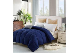 (Twin Blue) - The Ultimate All Season Comforter Deal Hotel Luxury Down Alternative Comforter Duvet Insert with Tabs Washable and Hypoallergenic (Twin Blue)