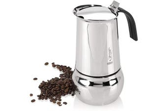 (10 Cups) - Bialetti Kitty Stainless Steel 10 Cup Espresso Maker
