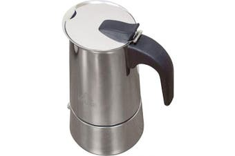 (3 Cups) - IMUSA USA B120-22061M Stainless Steel Stovetop Espresso Coffeemaker 4-Cup, Silver
