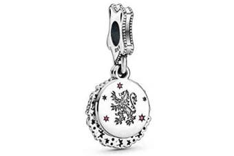 (Harry Potter, Gryffindor Dangle Charm) - 100% Genuine Sterling Silver Charms Harry Potter Charms Collection S925 Sterling Silver Charms Bracelet With Gift Pouch