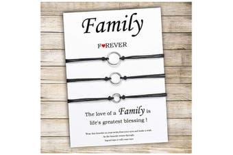 (Family Bracelet) - Cheerslife Mother and Daughter Bracelet Set Handmade Generation Family String Bracelets Gift for Grandma Mum and Me