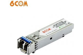 (1000Base-LX: up to 10KM) - 6COM 1.25Gb SFP LC Single-Mode Transceiver Module, 1000BASE-LX Gigabit SFP Ethernet Transceiver Compatible for Cisco GLC-LH-SMD, Ubiquiti, Netgear, D-Link, Supermicro, Mikrotik (DDM, 1310nm, 10km)