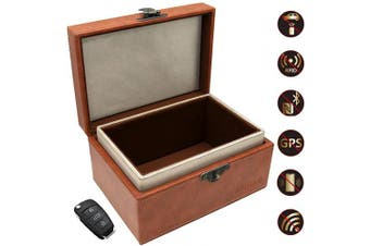 (Brown) - Acnac Faraday Box for Car Keys, Large Car Key Signal Blocker Box, PU Leather Car Key Signal Blocker, Keyless Car Key Fob Signal Blocker, Anti-theft RFID Key Box - Brown