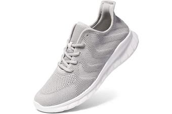 (3.5 UK, Grey03) - LK LEKUNI Mens Womens Running Shoes Trainers Sports Gym Walking Jogging Athletic Fitness Outdoor Sneakers