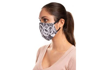 Auliné Collection Made in USA Lace Fabric Washable Reusable Fashion Face Mask, 1PK Lace 4
