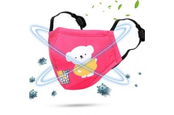Cartoon bears cotton dustproof for children Red