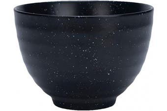 (Black Matcha) - Black Matcha Tea Bowl (Ceramic) Classic Japanese Drinking Cup | Daily and Ceremonial Grade Use | Authentic Asian Experience | Heavy-Duty Ceramic Finish