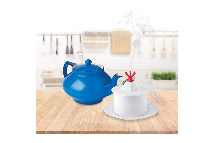 Tea Cup Lid for Tea Bags - Universal Silicone Lid Tea Bag Holder for Teacups With Slot on Cover for Teabags - Teepee Shaped Topper -Tea Lovers Tea Gifts Silicone Cup Lids Mugs Tumblers Tea Accessories