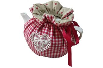 (Red) - Cheng Yi Modern Design 100% Cotton Printed Tea Cosy,Creative Kitchen Tea Pot Dust Cover,Tea Cosy Breakfast Warmer,Kettle Cover,Insulation and Keep Warm,CYFC1382 (Red)