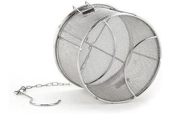 (14*10) - Tea Ball Strainer, Aramox Stainless Steel Soup Seasonings Seperation Basket Spice Filter(1410)