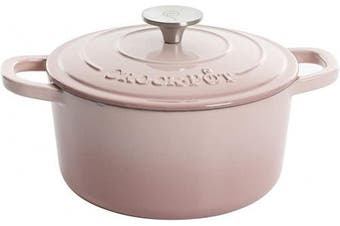 (2.8l, Round, Blush) - Crock Pot Artisan Blush Pink 2.8l Enamelled