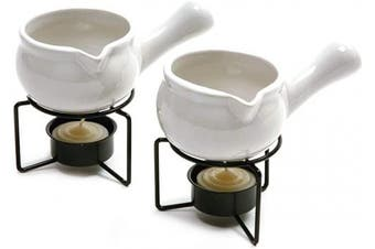 Norpro 210 Ceramic Butter Warmers, Set of 2, 1/3 cup90ml, White