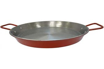 IMUSA USA, Red CAR-52031T NonCoated Aluminized Paella Pan 38cm , 38cm