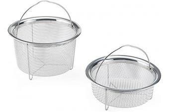 (Set Of 2) - Instant Pot 5252247 Official Mesh Steamer Baskets, Set Of 2, Stainless Steel