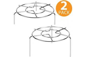 (Tall Trivet) - 10cm & 4.4cm Tall Trivet Rack Stand, Heavy Duty Stainless Steel Multifunction Basket, Pressure Cooker Steam Rack