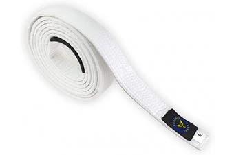"(A1 - 110"") - PHOENIX POWER Jiu Jitsu Belt for BJJ GI Kimono Brazilian Preshrunk Fabric Unisex White"