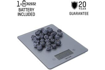 (Pewter-Effect) - Taylor Pro Digital Food Scales with Ultra Thin Design in Gift Box, Glass/Plastic, Pewter, 5 kg