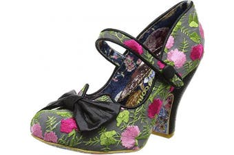 (6.5 UK, Black Black Floral) - Irregular Choice Women's Fancy This Mary Jane
