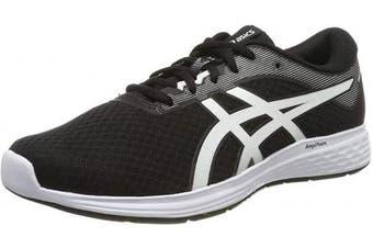 (11 UK, Black Black White 001) - ASICS Men's Patriot 11 Running Shoes