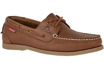 (9 UK, Dark Tan) - Chatham Men's Galley II Boat Shoes