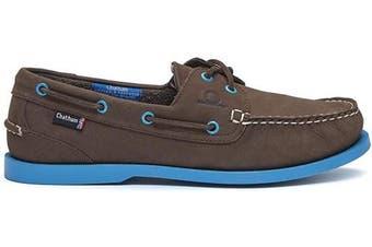 (12 UK, Chocolate Blue) - Chatham Men's Compass Ii G2 Boat Shoe