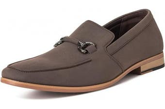 (6 UK, Brown) - Mens Queensberry Charles Penny Moccasin Driving Office Comfort Loafers