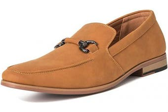 (11 UK, Tan) - Mens Queensberry Charles Penny Moccasin Driving Office Comfort Loafers