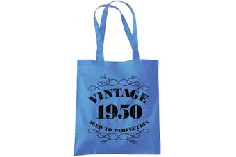 (Cblue) - 70th Birthday Gifts for Women Men Vintage 1950 Funny Tote Bags Present