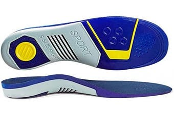 (3/8.5UK…, Blue) - Orthotic Insoles Arch Support for Plantar Fasciitis, Bunions Ball of Foot,overpronation,lower back pain relief,Full-Length orthotic