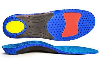 (3.5/7UK, Blue) - Full Length Orthotic Inserts with Arch Support Sport Shoe Insoles Comfort Arch Support Insoles for Flat Feet, Orthopaedic Functional insoles for Women & Men