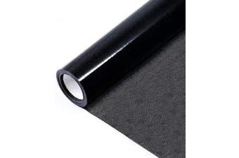 (Black) - Bloss Blackout Window Film Sun Blocking Static Cling Window Tint Non Adhesive Window Privacy Film Removable 45cm x 200cm