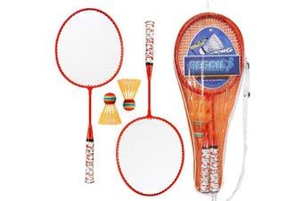 (Orange) - Lixada 1 Pair Badminton Rackets with Balls 2 Player Badminton Set for Children Indoor Outdoor Sport Game