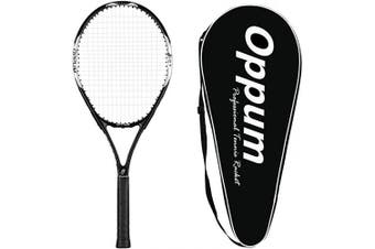 (4 3/8, New T80 -(Black)) - oppum Adult Carbon Fibre Tennis Racket, Super Light Weight Tennis Racquets Shock-Proof and Throw-Proof,Include Tennis Bag Tennis Overgrip