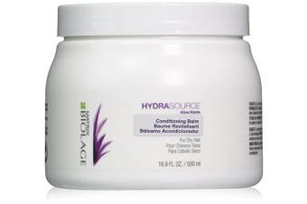 (500ml) - BIOLAGE Hydrasource Conditioning Balm | Hydrates, Nourishes & Detangles Dry Hair | Sulphate-Free | For Medium To Coarse Hair