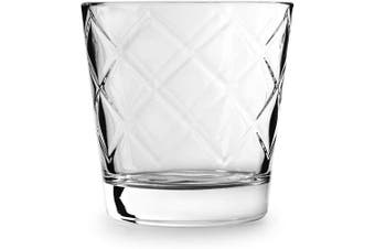 (Arrabella) - Circleware 45043 Arrabella Double Old Fashioned Whiskey Glasses, Set of 4 Kitchen Drinking Glassware for Water, Juice, Ice Tea, Beer, Wine Bar Barrel Liquor Dining Decor Beverage Gifts, 370ml