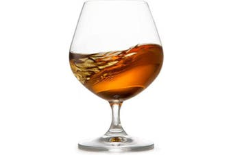 (Brandy) - Circleware 45020 Chantal Cognac Wine Snifter Whiskey Glasses, Set of 4 All-Purpose Elegant Entertainment Party Beverage Glassware Drinking Cups for, Beer, Liquor and Bar Decor, 650ml, Brandy